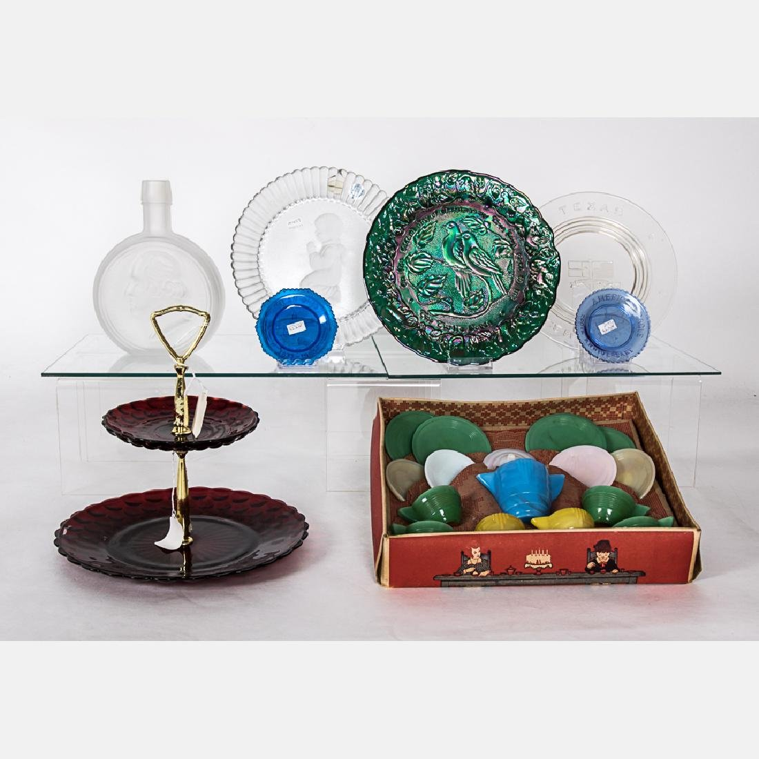 A Collection of American and European Pattern Glass by