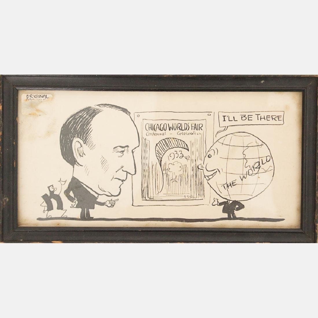 A Group of Three Framed Souvenirs from the Century of - 2