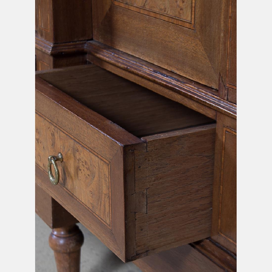 A Louis XVI Style Burlwood Armoire with Fruitwood - 6