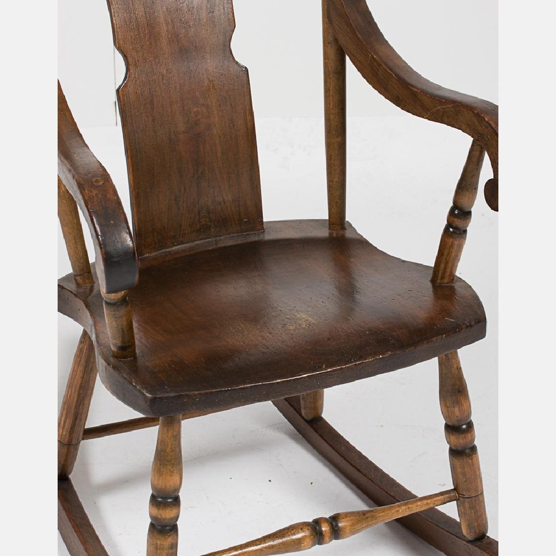An American Walnut Rocking Chair, Early 20th Century. - 3