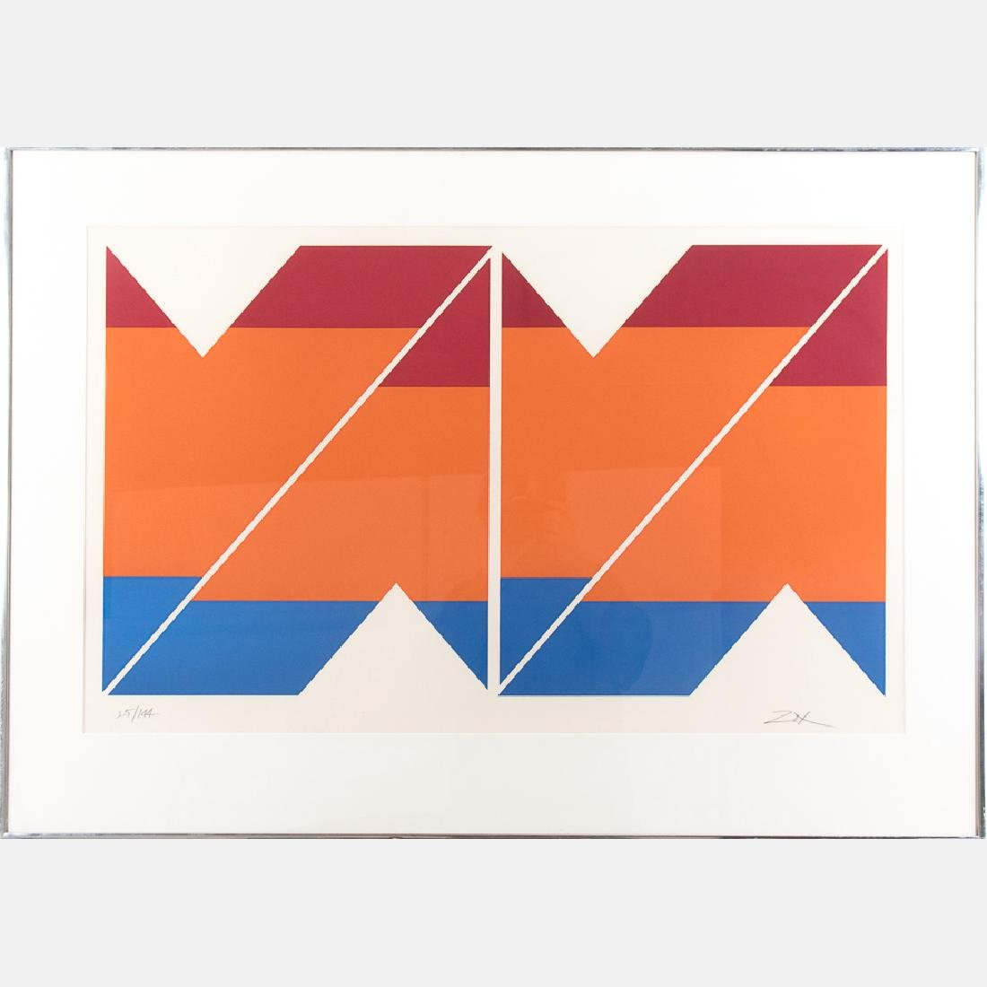 Larry Zox (1937-2006) Untitled, 1971, Silkscreen,