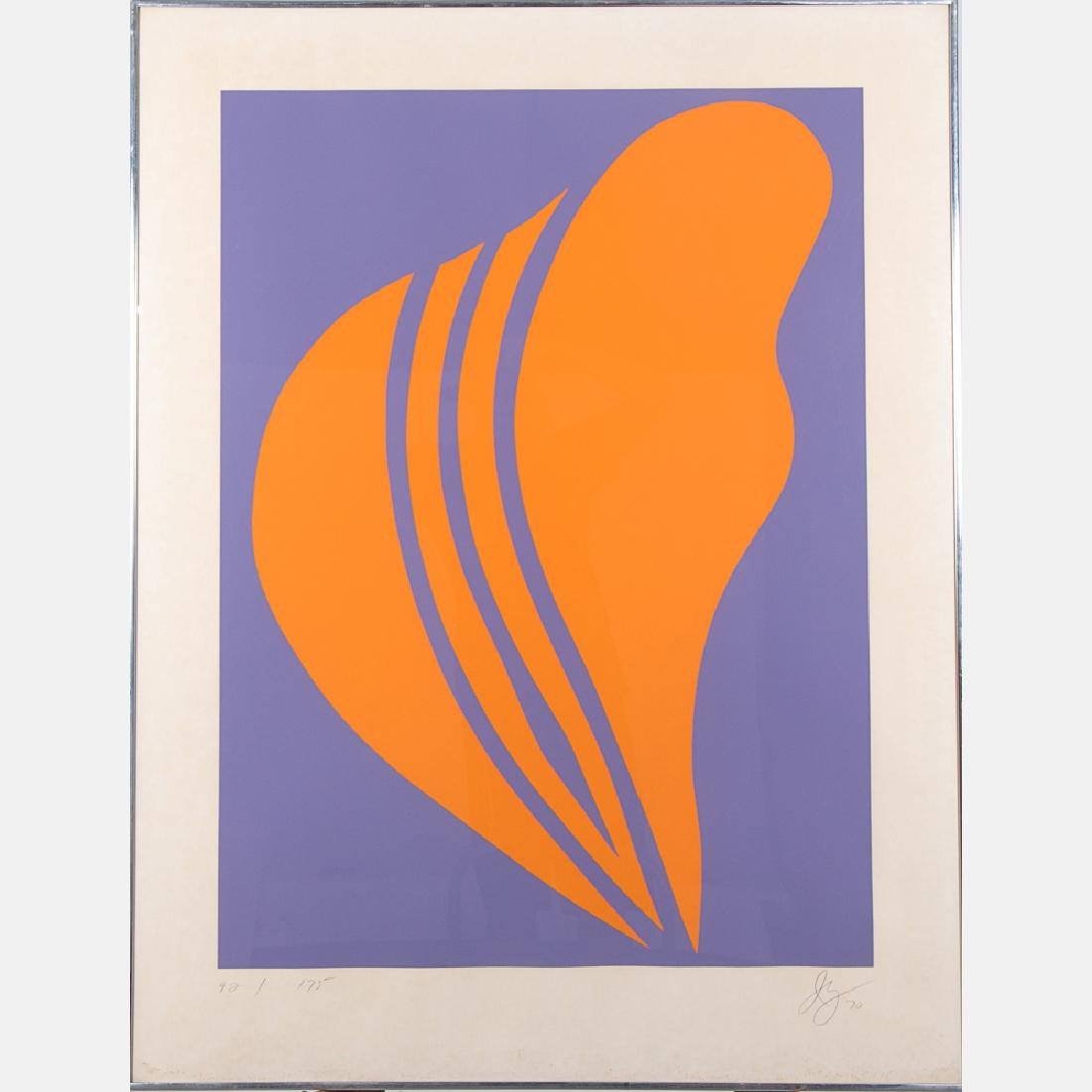 Jack Youngerman (b. 1926) Changes, 1970, Serigraph,