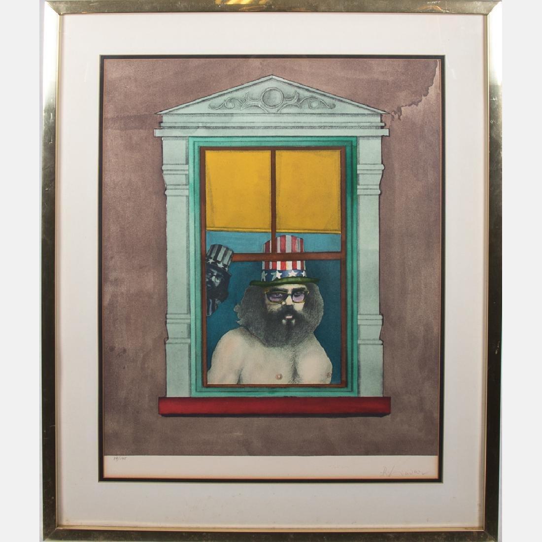 Richard Lindner (1901-1978) Allen Ginsburg, Lithograph,