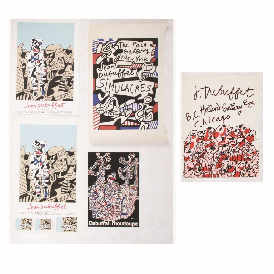 A Group of Five Jean Dubuffet (1901-1985) Lithographic