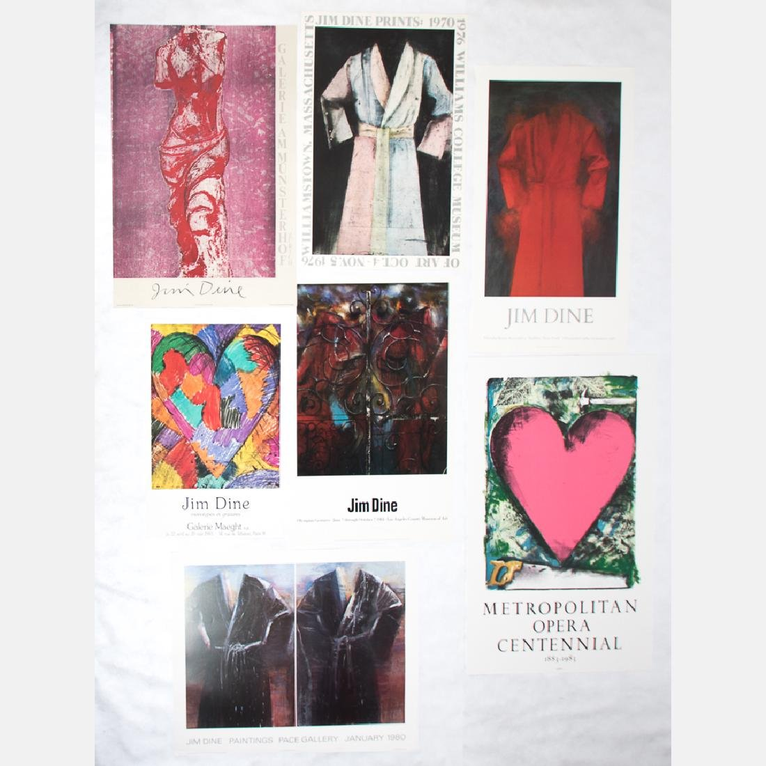 Jim Dine (b. 1935) A Collection of Seven Exhibition