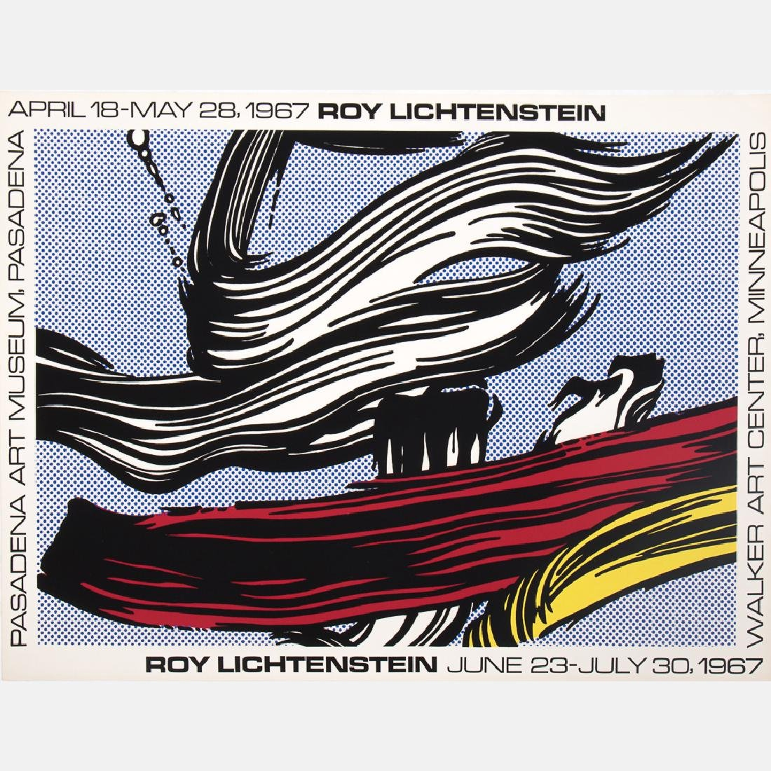 Roy Lichtenstein (1923-1997) Brushstrokes at Pasadena