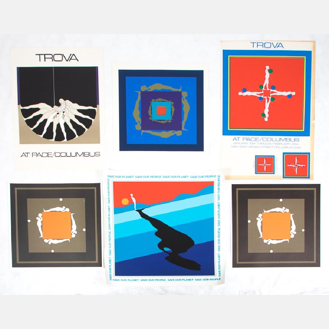 Ernest Trova (1927-2009) A Collection of Six Exhibition