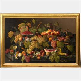 Severin Roesen (1815-1872) Still Life with Fruit and