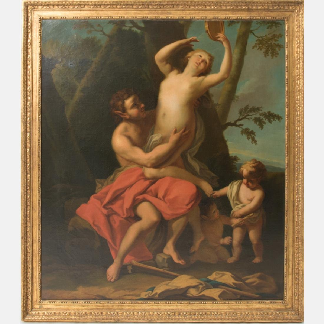 French School (18th/19th Century) Satyr with Nymph and
