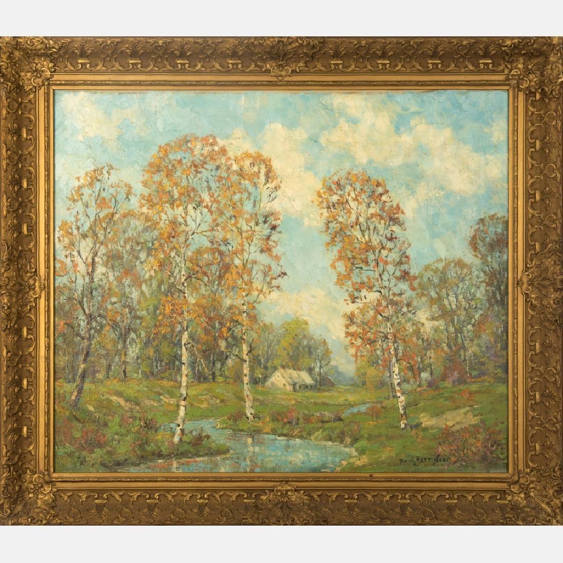 Paul Bettinger (American, 1878-1947) River Landscape,