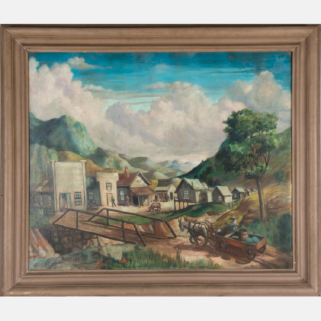 Paul Lewis Hendricks (1904-1956) Tennessee Village, Oil