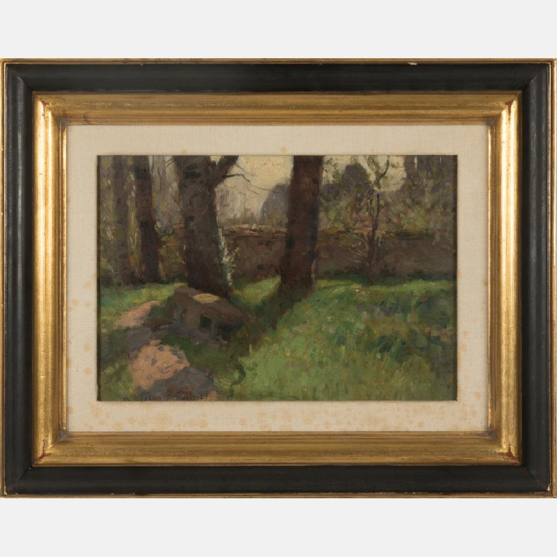 Charles F. de Klyn (1865-1958) Paris Park, 1889, Oil on
