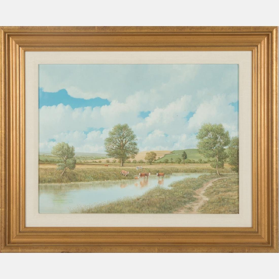 Nicholas Mace (b. 1949) Summer Pasture,  Oil on board,
