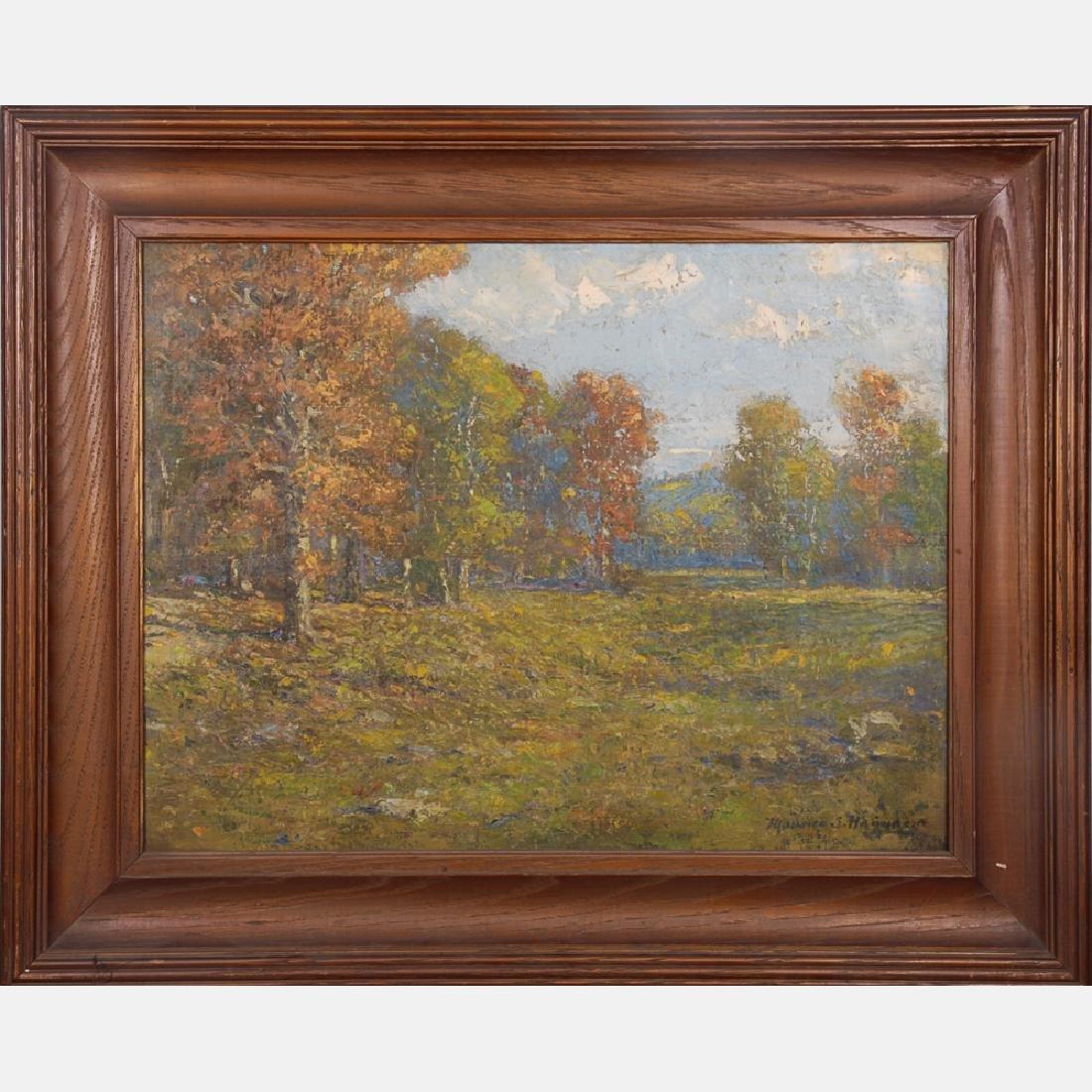 Maurice Hague (1862-1943) Stray Sunbeams, Oil on