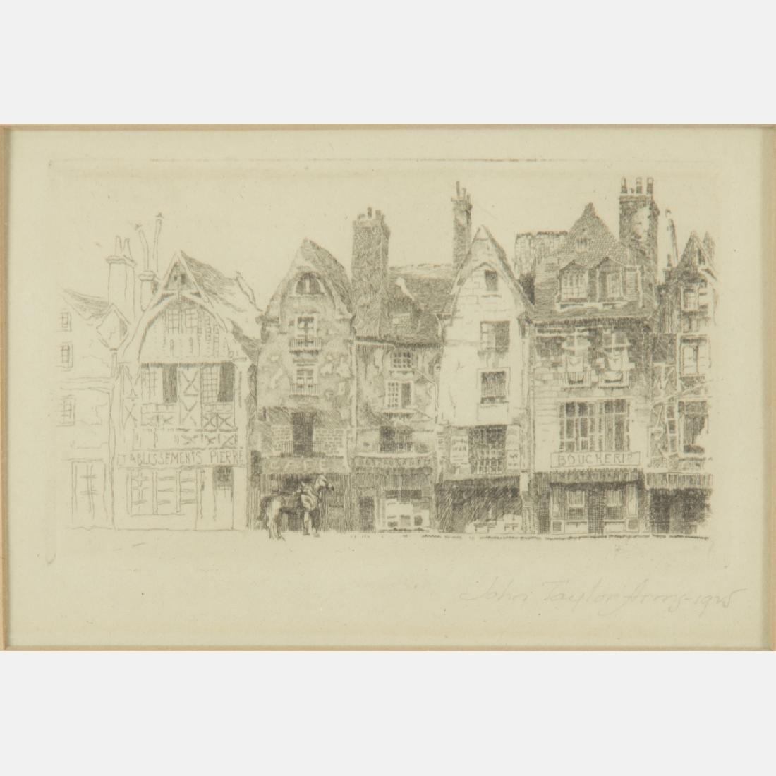 John Taylor Arms (1887-953) Place Plumereau, Tours,