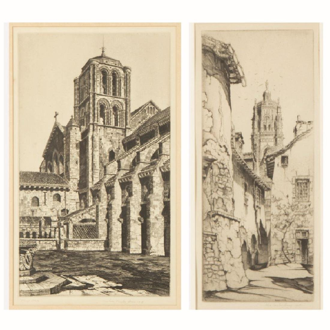 John Taylor Arms (1887-1953) Rodez- The Tower, Notre