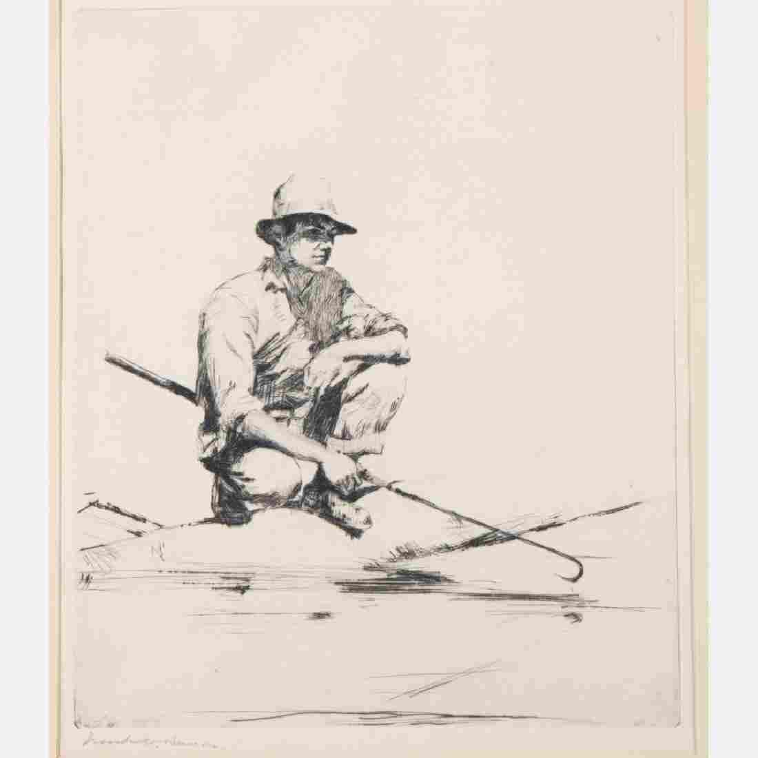 Frank Weston Benson (1862-1951) Man with a Gaff,