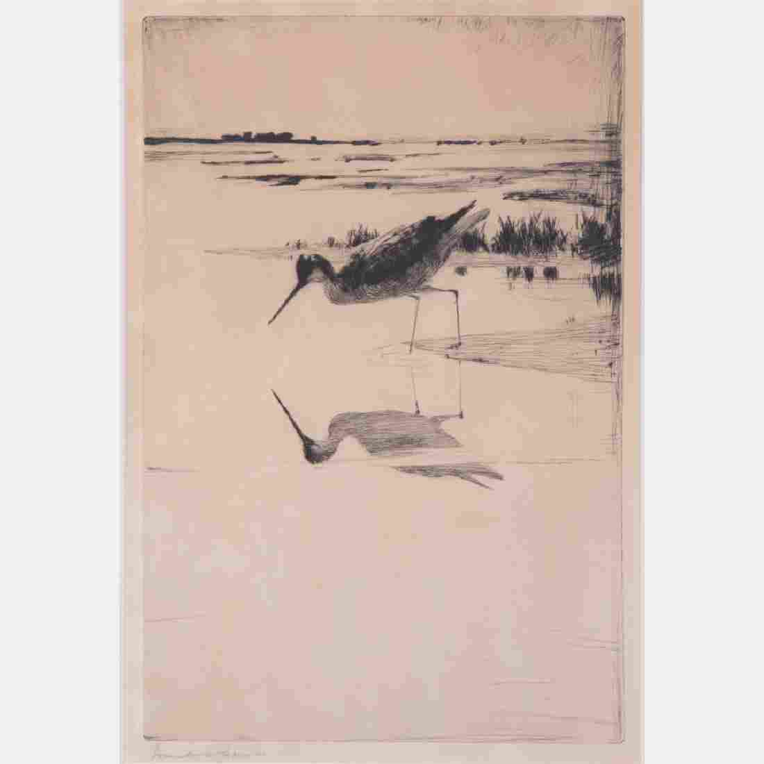 Frank Weston Benson (1862-1951) Lone Yellowlegs,