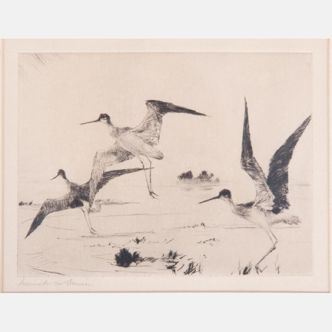 Frank Weston Benson (1862-1951) Three Yellowlegs (Plate