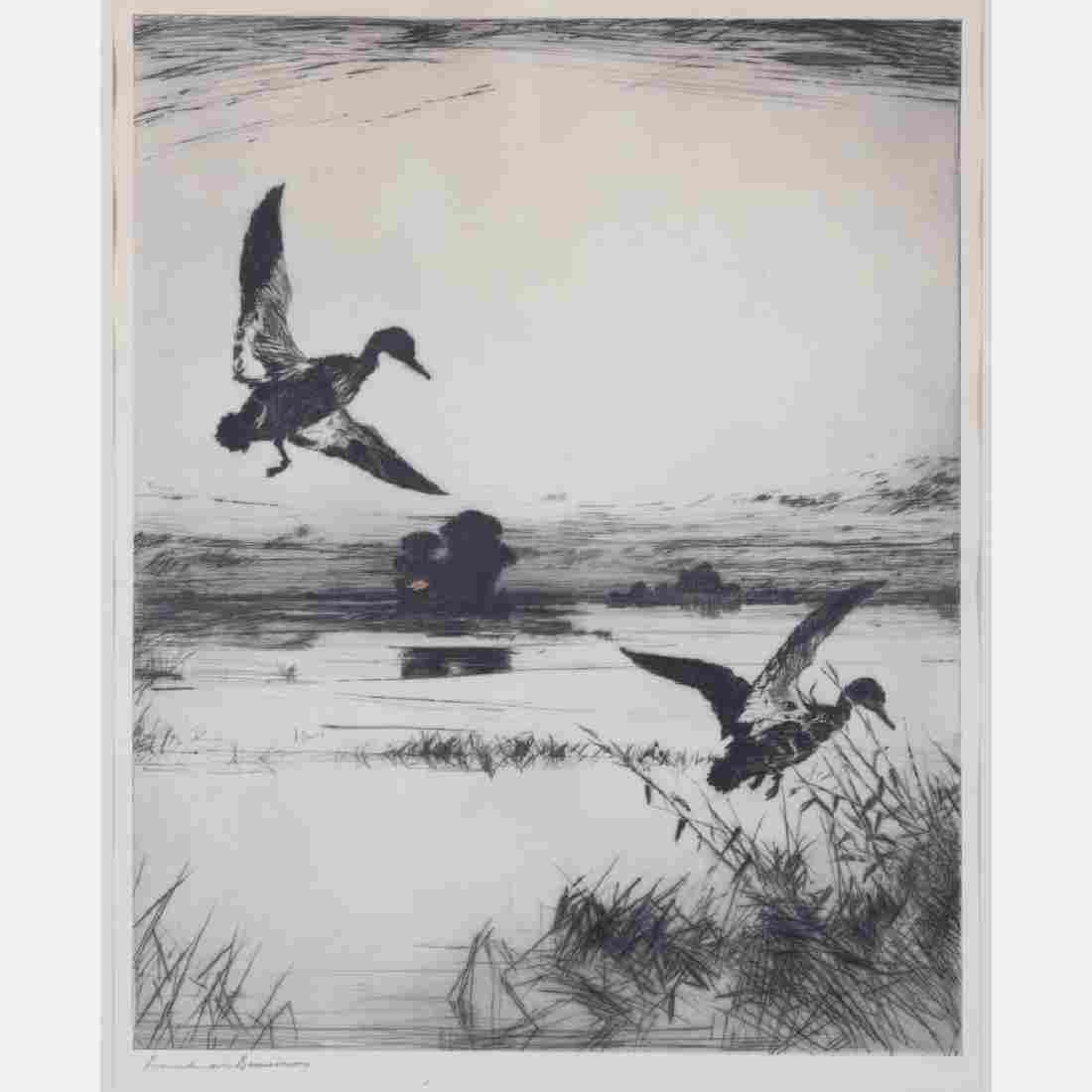 Frank Weston Benson (1862-1951) Two Black Ducks (Plate