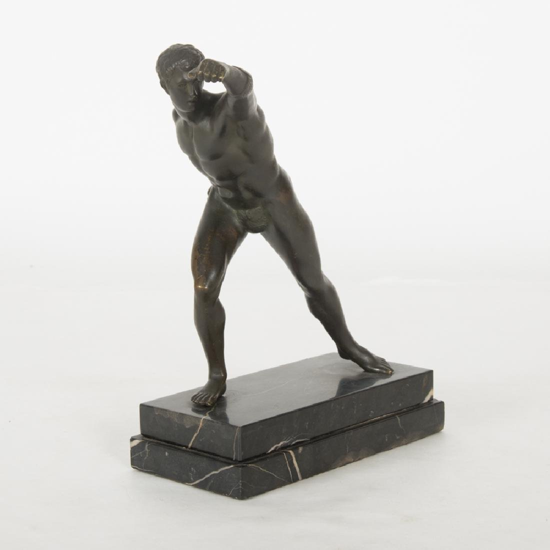 A Bronze Borghese Gladiator Figure, 20th Century,