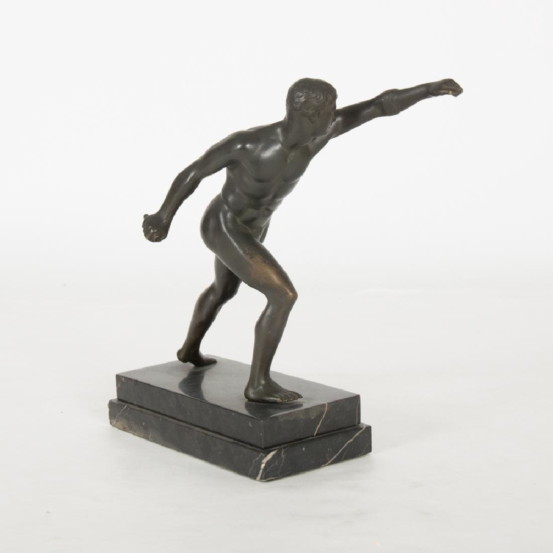 A Bronze Borghese Gladiator Figure, 20th Century, - 3
