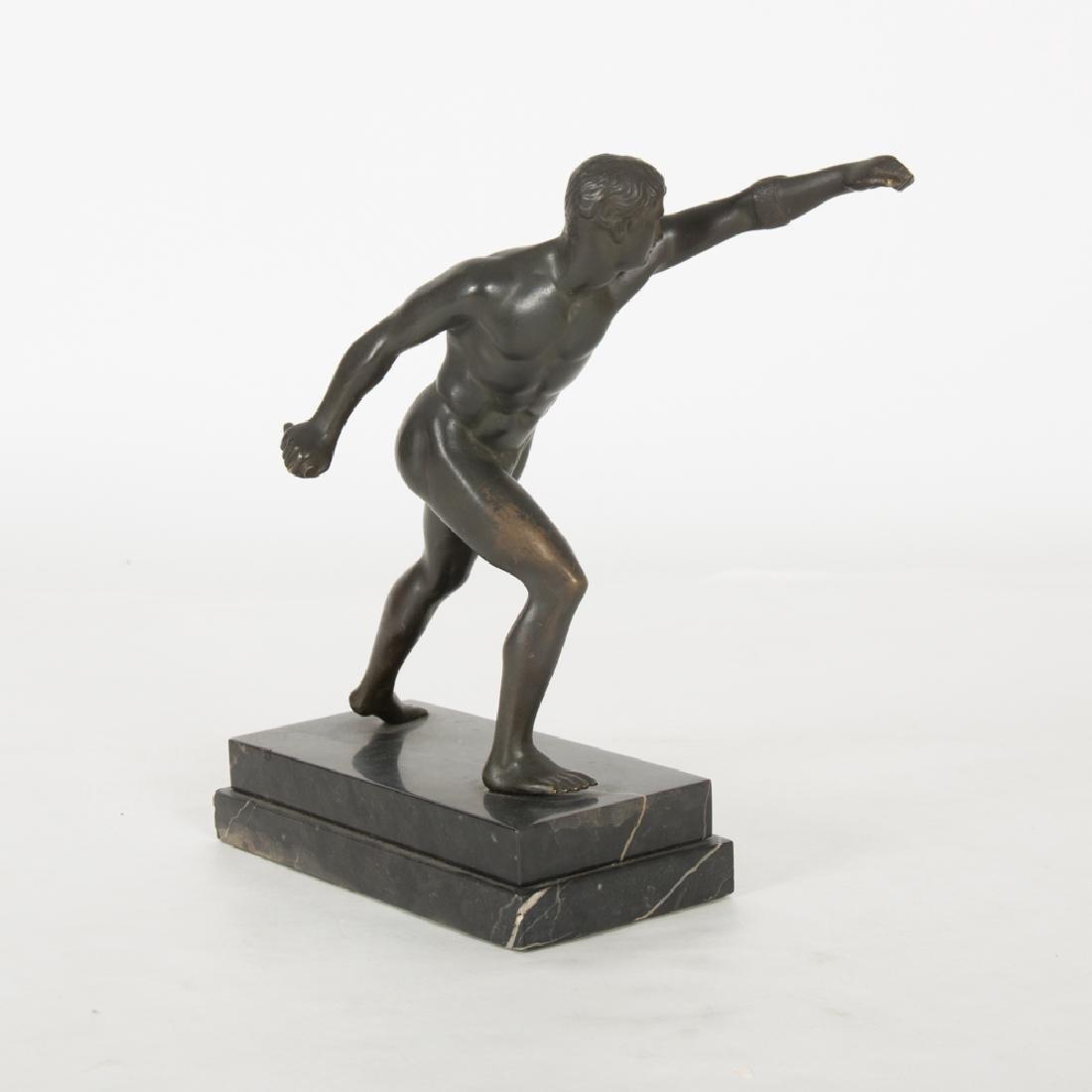 A Bronze Borghese Gladiator Figure, 20th Century, - 3