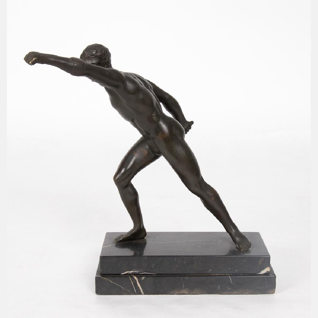 A Bronze Borghese Gladiator Figure, 20th Century, - 4