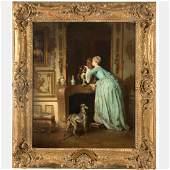 Alfred Emile Leopold Stevens (1823-1906) The Love Note,