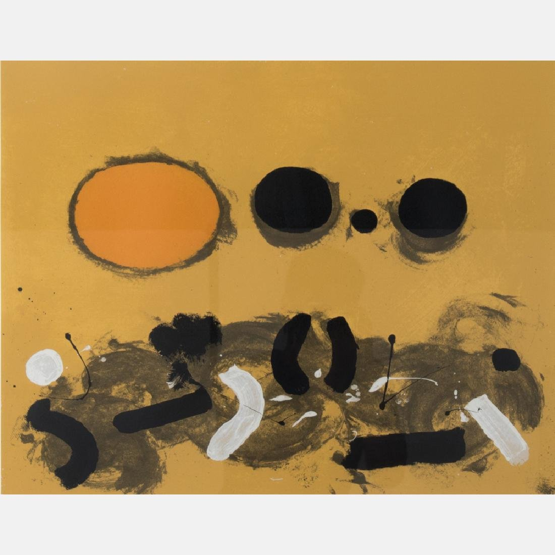 Adolph Gottlieb (1903-1974) Orange Oval, 1972,