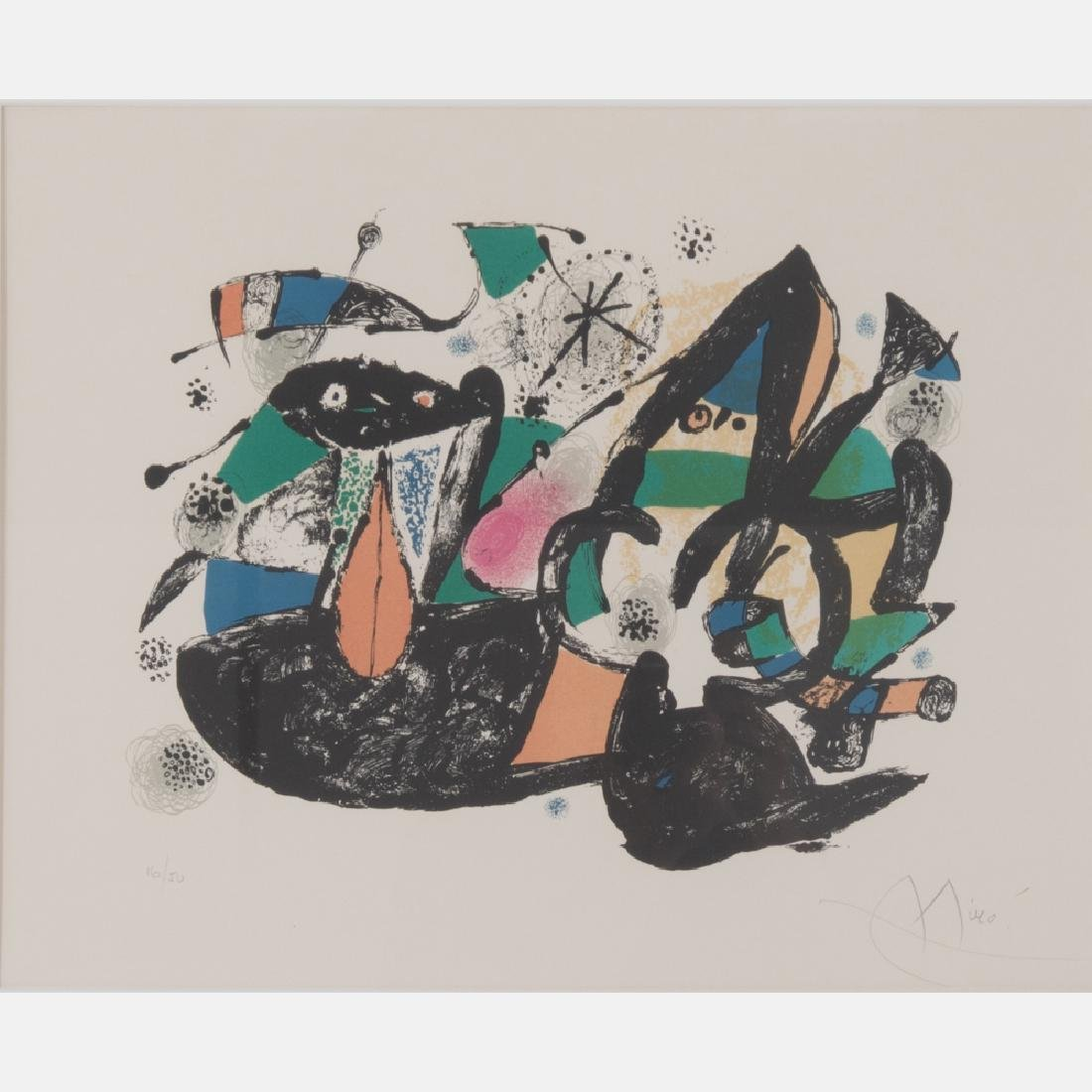 Joan Miro (1893-1983) Seicles, Lithograph,