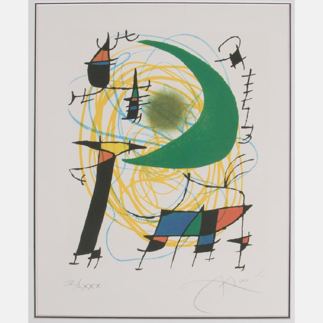 Joan Miro (1893-1983) Moon, 1974, Lithograph,