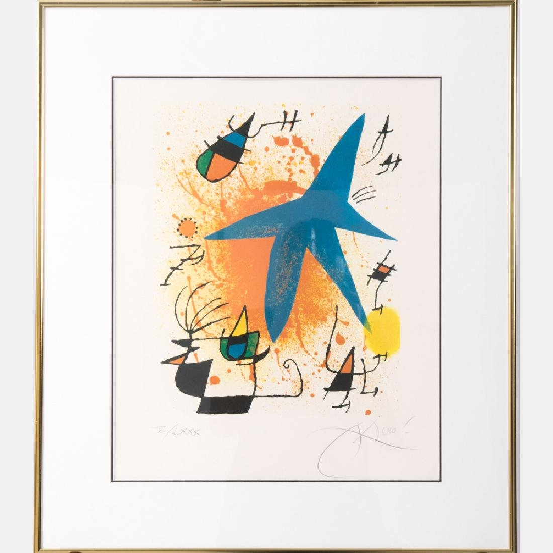 Joan Miro (1893-1983) Star, 1974, Lithograph,