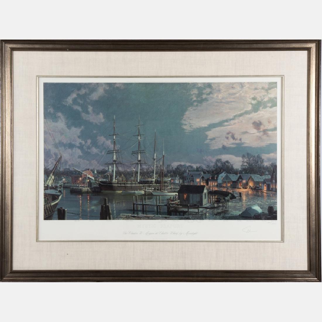 John Stobart (b. 1929) Mystic Sea Port, the Charles W.