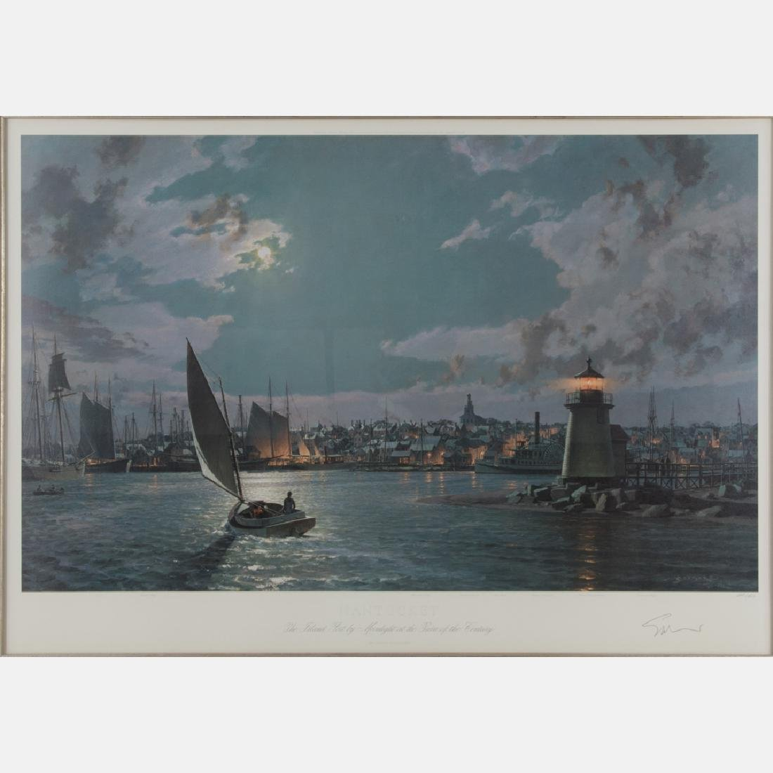 John Stobart (b. 1929) Nantucket, the Island Port by