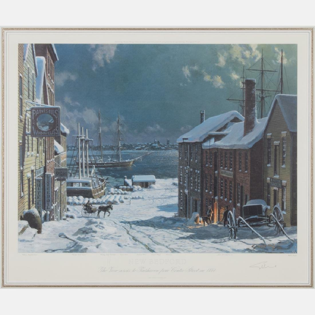 John Stobart (b. 1929) New Bedford, the View Across to