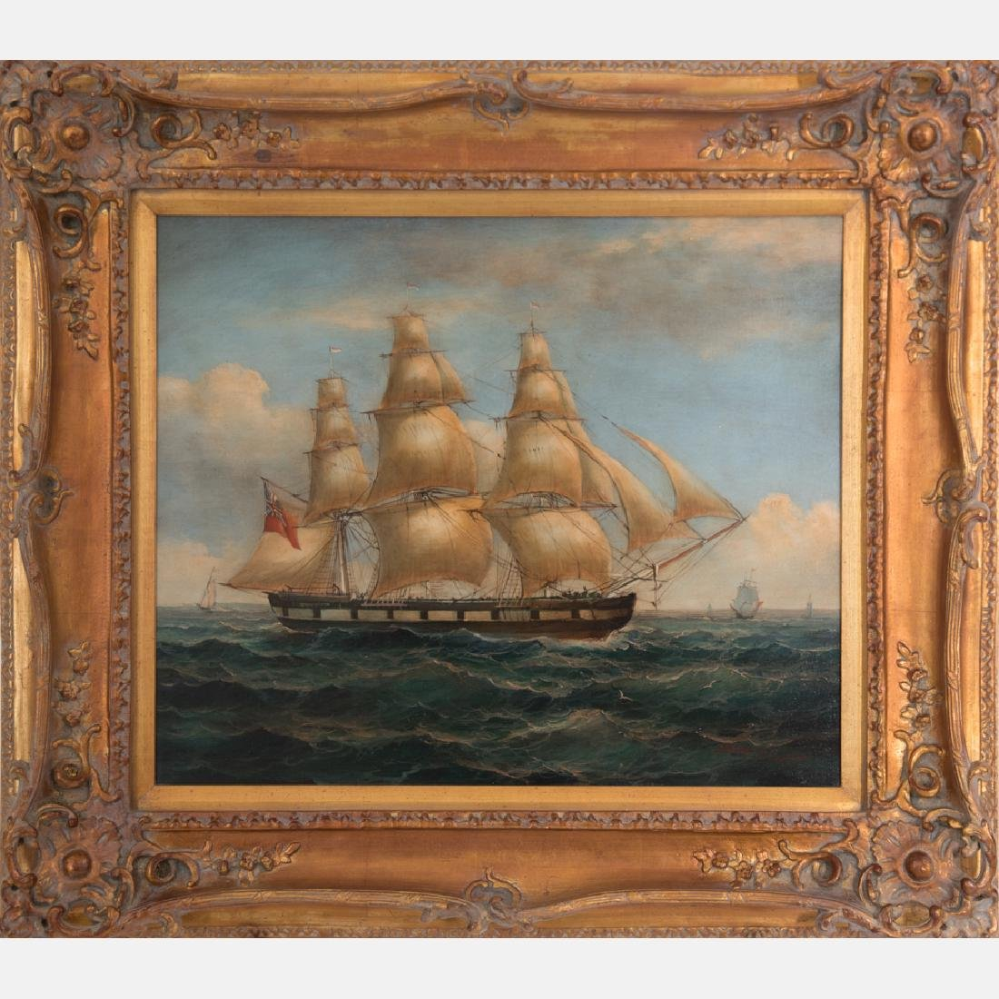 Robert Sanders (20th Century) Seascape with Tall Ships,