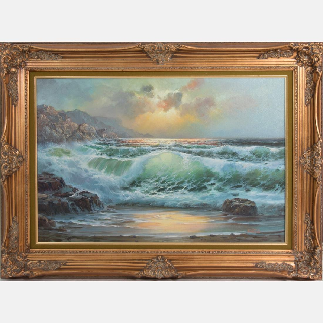 Don Fairbanks (20th Century) Rocky Shoreline, Oil on