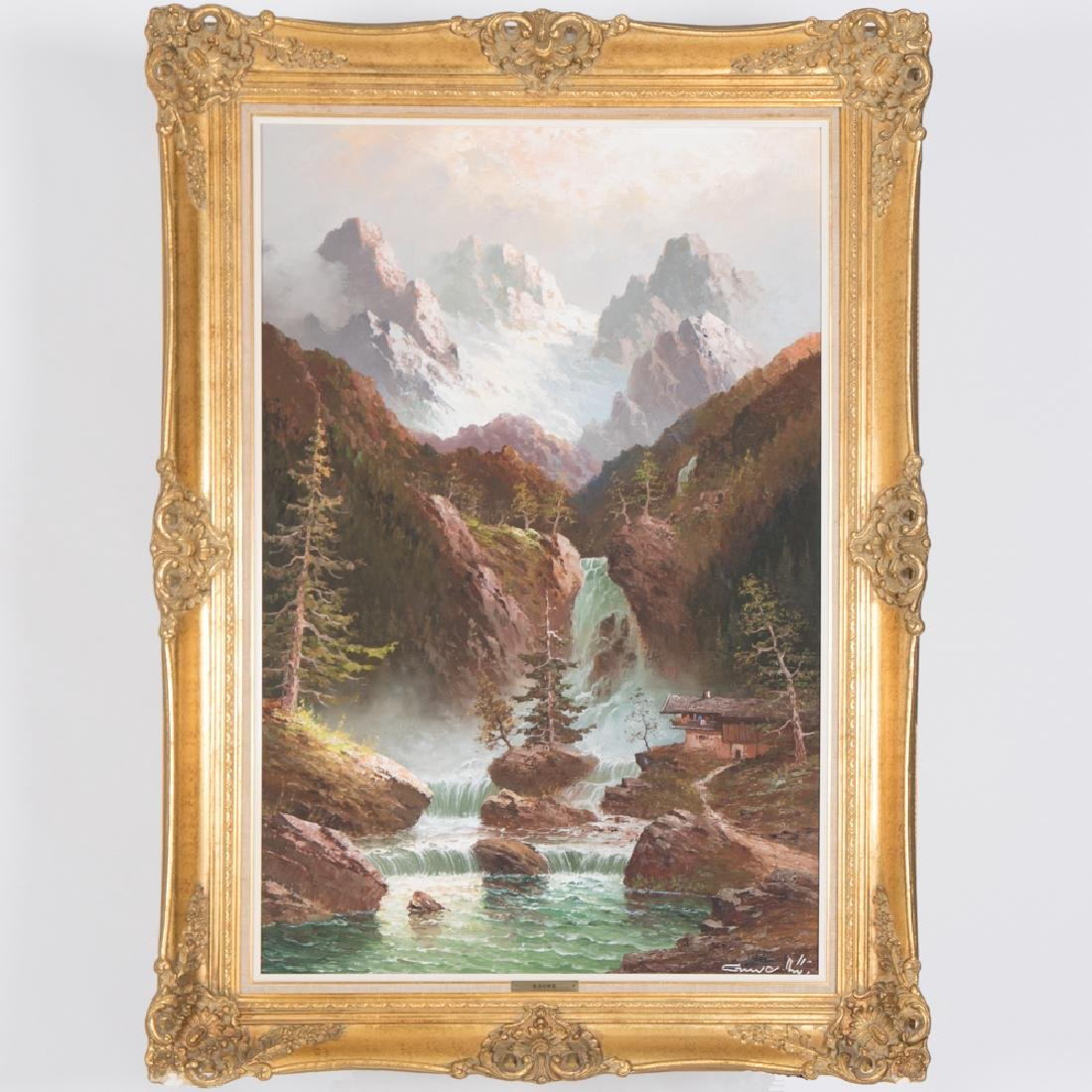 Gustav Weiss (1886-1973) Alpine Scene, Oil on canvas,