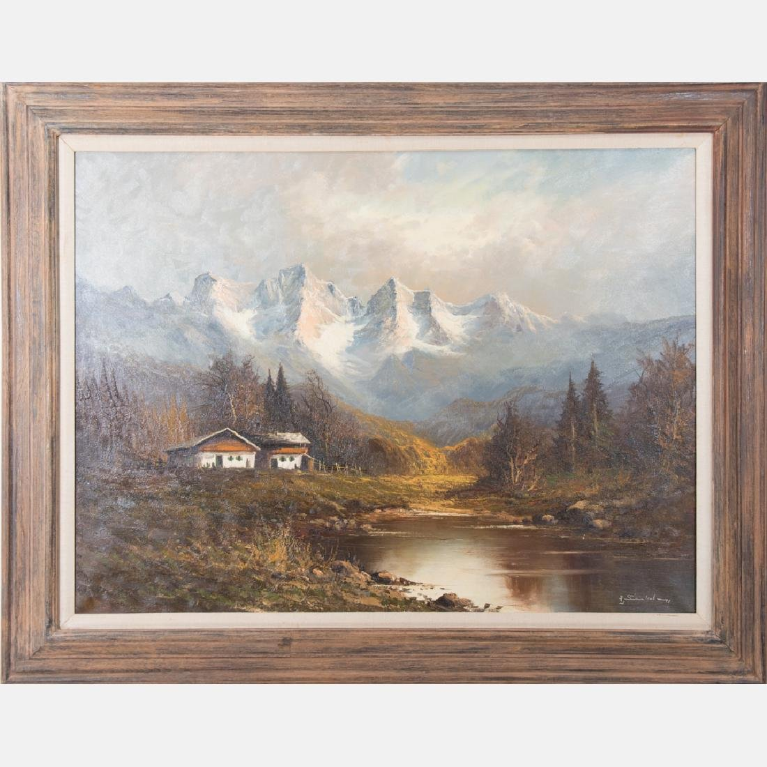 Gunter Seekatz (b. 1928) Alpine Scene, Oil on canvas,