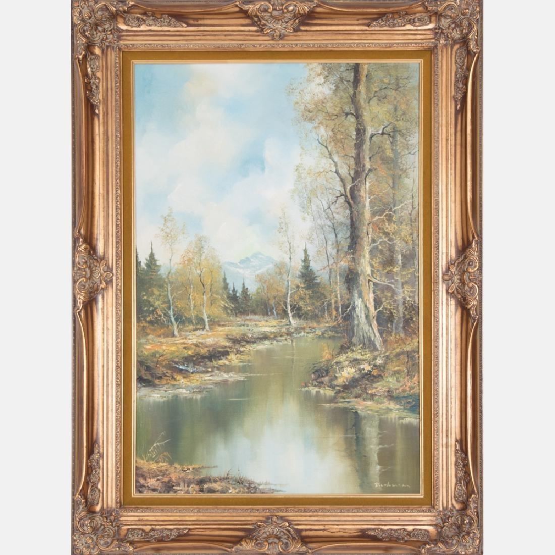 Furhmann (20th Century) Forest Scene, Oil on canvas