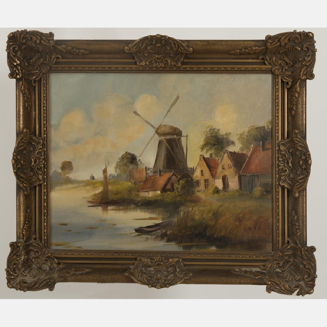 Artist Unknown (19th/20th Century) River Scene with