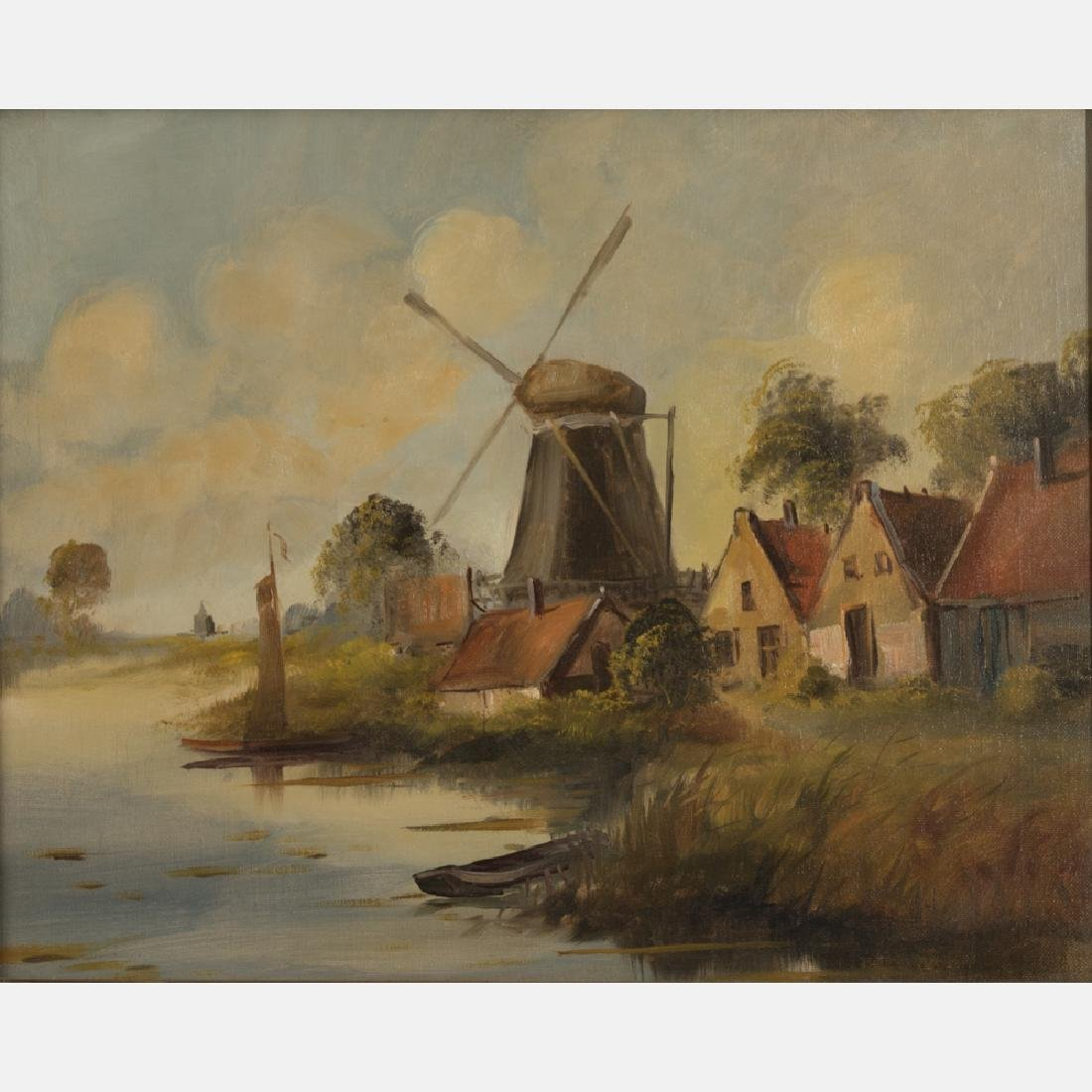 Artist Unknown (19th/20th Century) River Scene with - 4