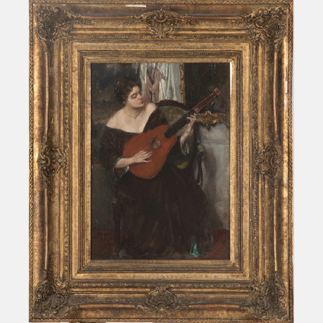 Jan Schreuder van de Coolwijk (1868-1962) Woman Playing