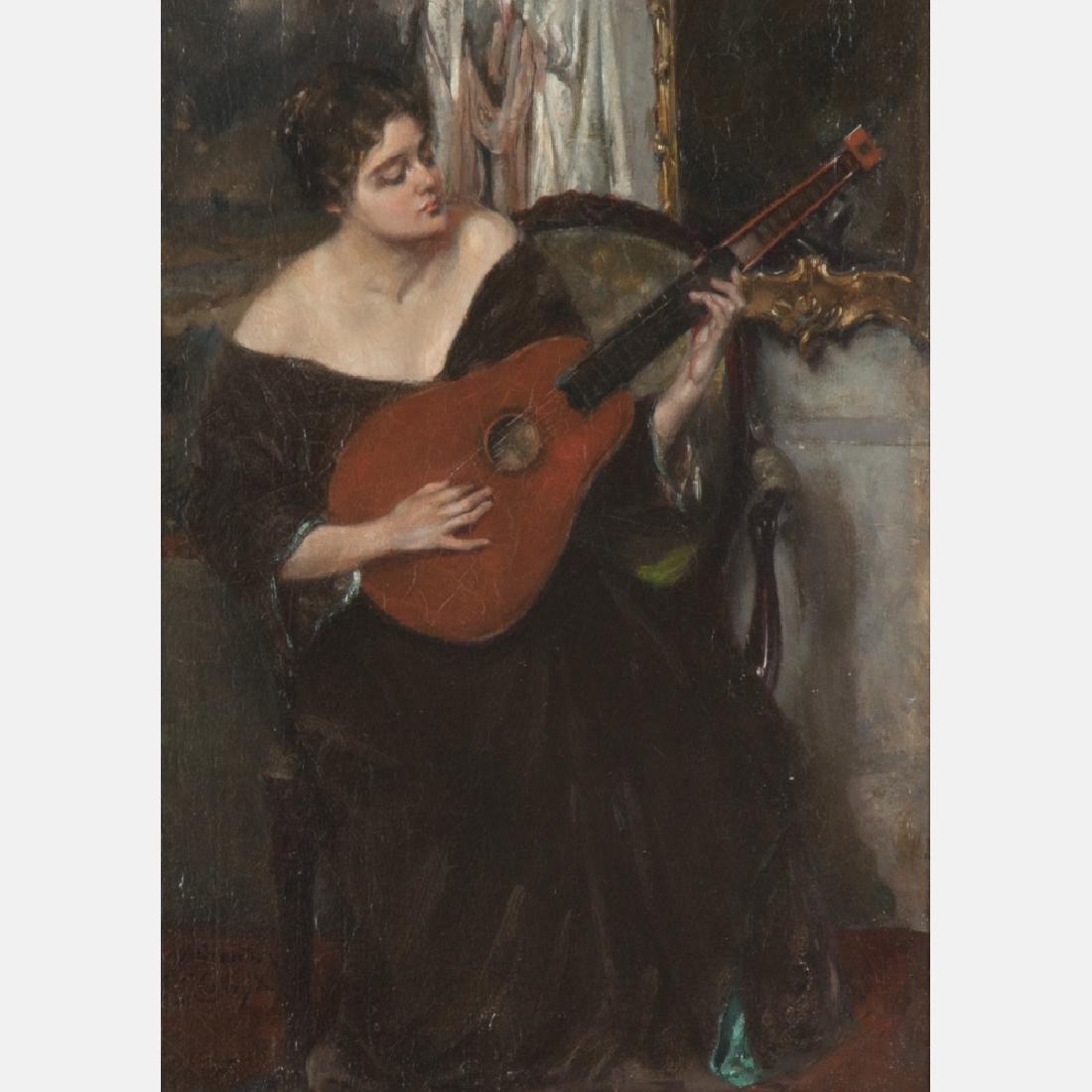Jan Schreuder van de Coolwijk (1868-1962) Woman Playing - 5