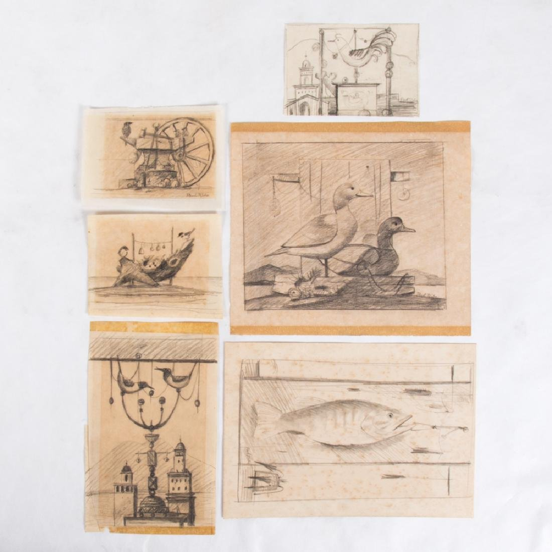 Paul Riba (1912-1977) A Group of Six Studies of Birds