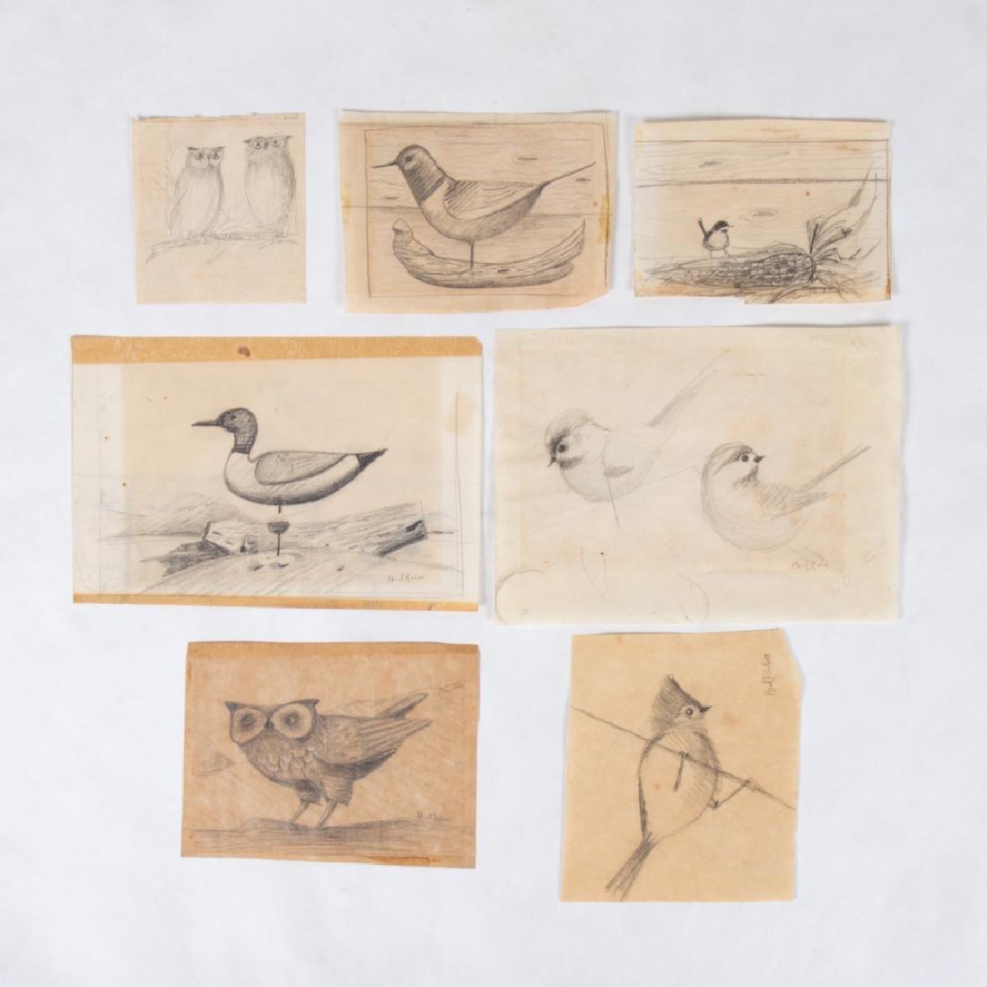 Paul Riba (1912-1977) A Group of Seven Studies of Birds
