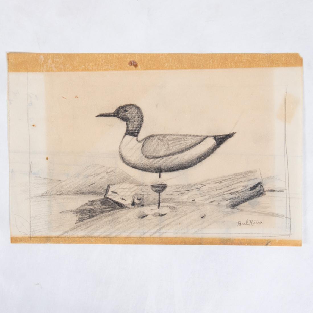 Paul Riba (1912-1977) A Group of Seven Studies of Birds - 2