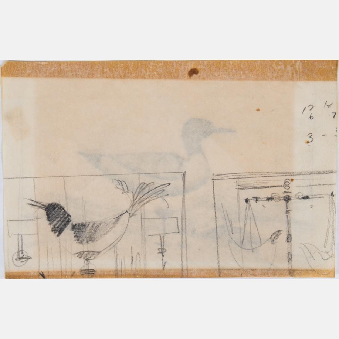 Paul Riba (1912-1977) A Group of Seven Studies of Birds - 4