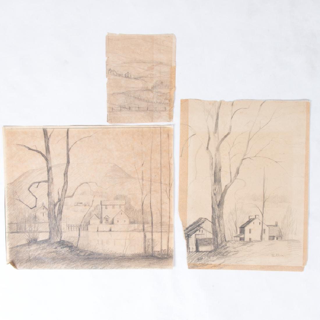 Paul Riba (1912-1977) A Group of Three Studies, Pencil